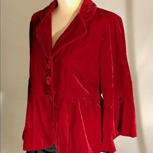 NY Collection Jackets & Coats - New York Collection crush velvet jacket
